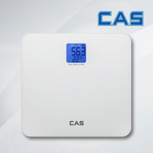 카스 블루 백라이트 디지털 체중계 HE-86