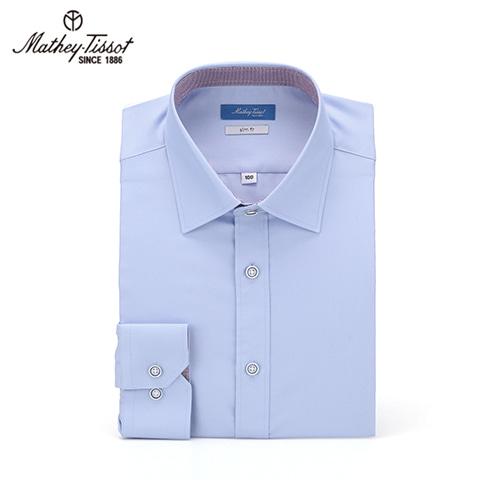 Mathey-Tissot 드레스 셔츠 SSR Twill 소라