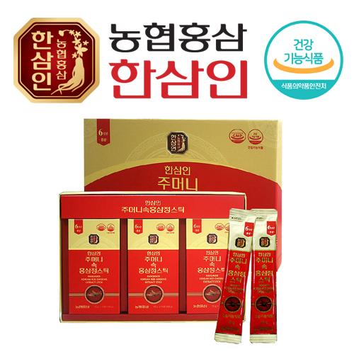 [농협 한삼인] 주머니속 홍삼정스틱 10ml x 30포 + 쇼핑백