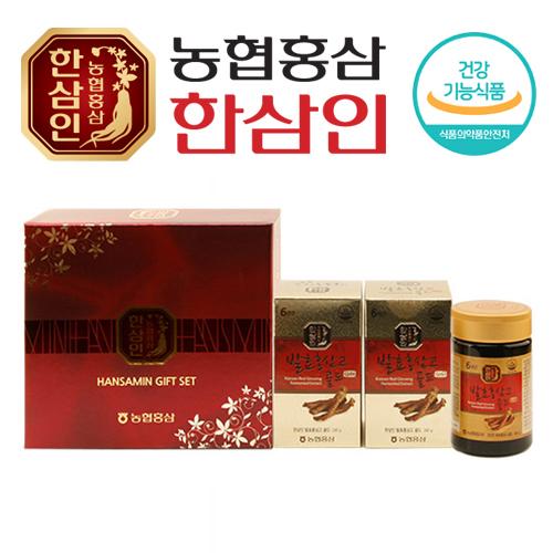 [농협 한삼인] 발효홍삼고골드 240g x 2병 + 쇼핑백