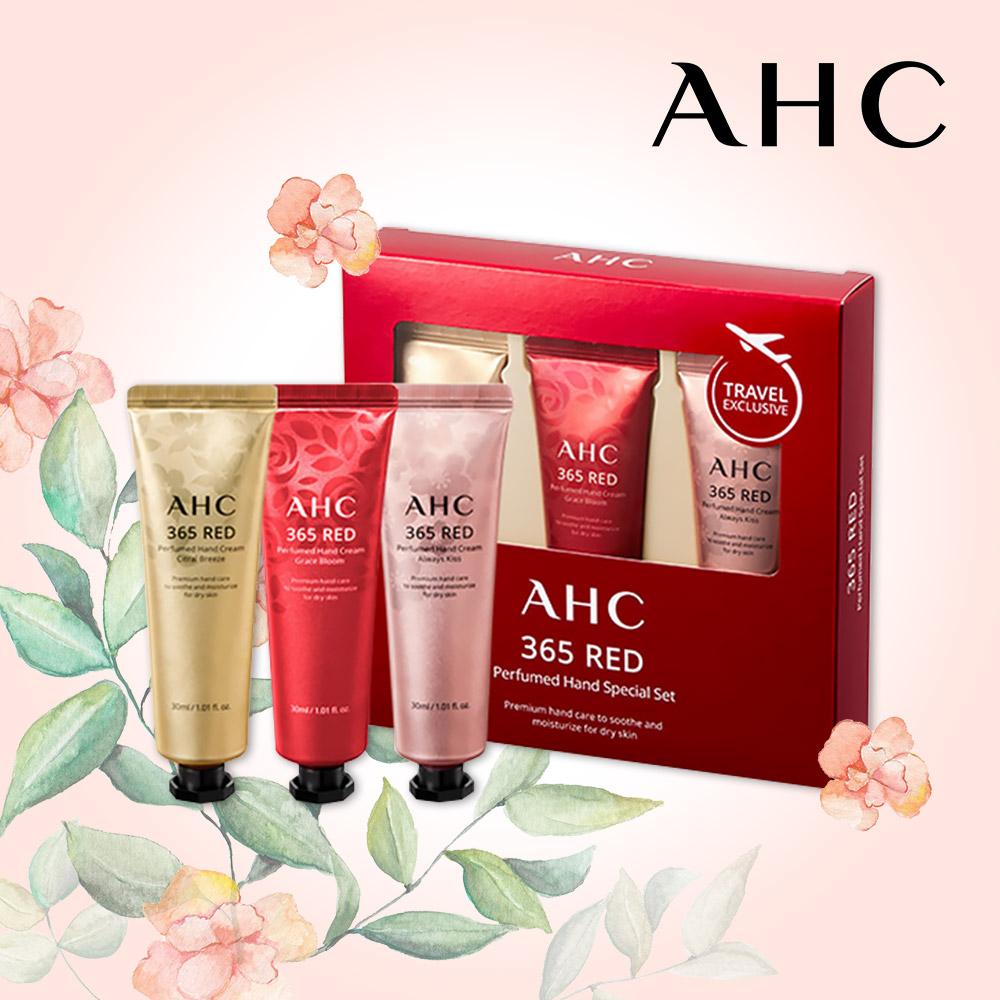 AHC 365 레드 퍼퓸 핸드크림 스페셜 3종세트