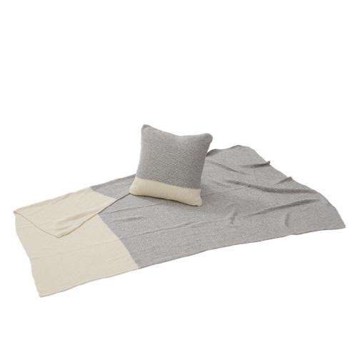 백화점 판매[코지네스트]베어니트 담요+쿠션커버 SET(색상 택1)