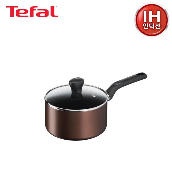 [테팔] 인덕션 초콜릿 티타늄 프로 냄비 편수 18cm TFC-ICS8