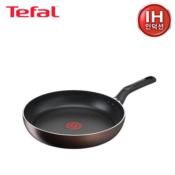 [테팔] 인덕션 초콜릿 티타늄 프로 프라이팬 28cm TFC-IC8