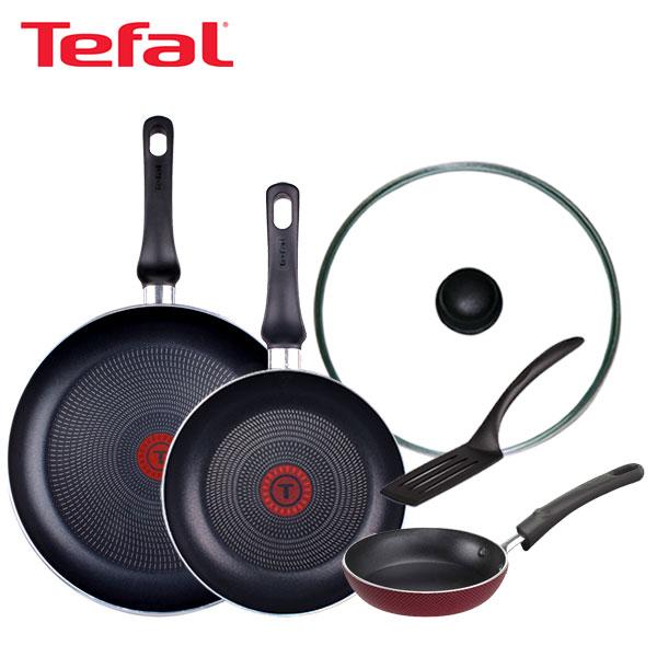 [테팔] 스페셜 프라이팬 실속 구성 3P+미니팬 12cm+유리뚜껑 28cm 세트 TFC-EL08STGEP12