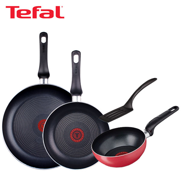 [테팔] 스페셜 프라이팬 실속 구성 3P+미니볶음팬 16cm TFC-EL08STEPW