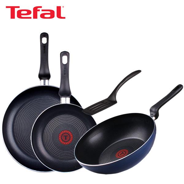 [테팔] 스페셜 프라이팬 실속 구성 3P+파워블루 멀티팬 28cm 세트 TFC-EL08STPBW