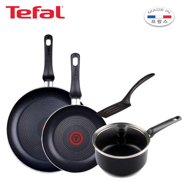 [테팔] 스페셜 프라이팬 실속 구성 3P+인비지아 편수 18cm TFC-EL08STIVS8