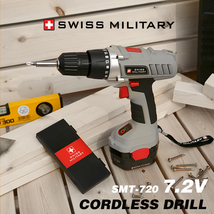 스위스밀리터리 7.2V 충전식 전동드릴 SMT-720