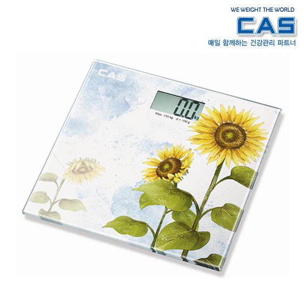카스 실사프린팅 LCD 디스플레이 디지털 체중계 HE-34
