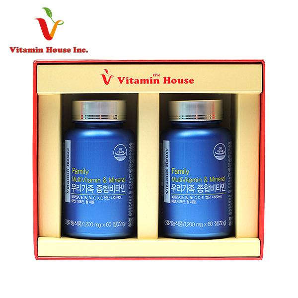 [비타민하우스] 우리가족 종합비타민 2P세트 (Family Multi vitamin & mineral)