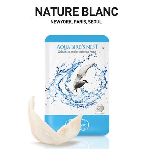 NATURE BLANC 바다제비집 시범 컨트롤러 에센스 마스크 (AQUA BIRDS NEST) 10팩