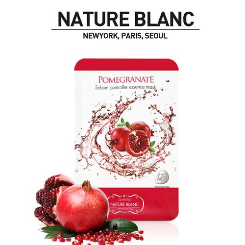 NATURE BLANC 석류 시범 컨트롤러 에센스 마스크 (POMEGRANTE) 10팩