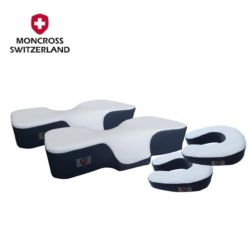[MONCROSS SWITZERLAND] 스위스 몽크로스 기능성 건강베개 4종 세트