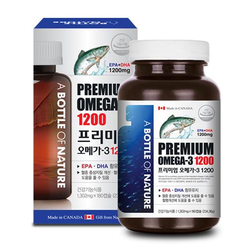 어바틀 프리미엄 오메가-3 1200 / 1,200mg x 180캡슐(6개월분)
