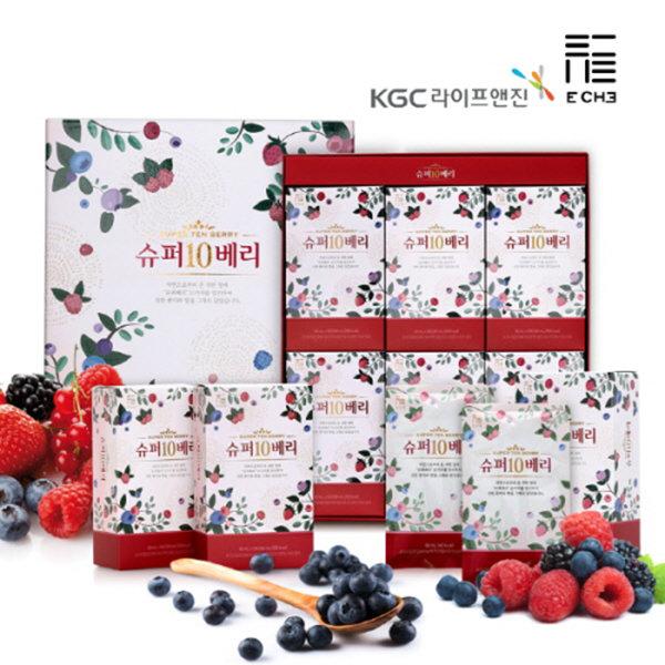 KGC라이프앤진 슈퍼10베리 60ml x 30포 + 쇼핑백