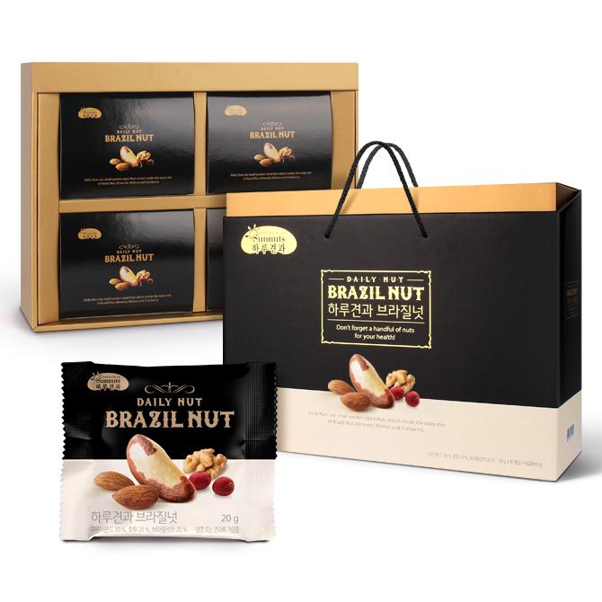[하루견과] 브라질넛 40입 선물세트