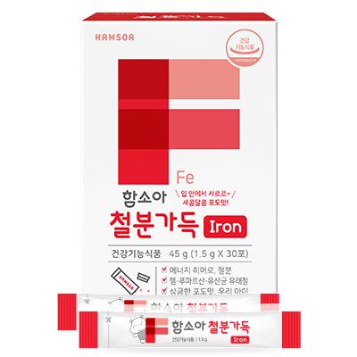 [리뉴얼신제품] 함소아 하마비타민 철분가득 1.5g x 30포 (1개월분)