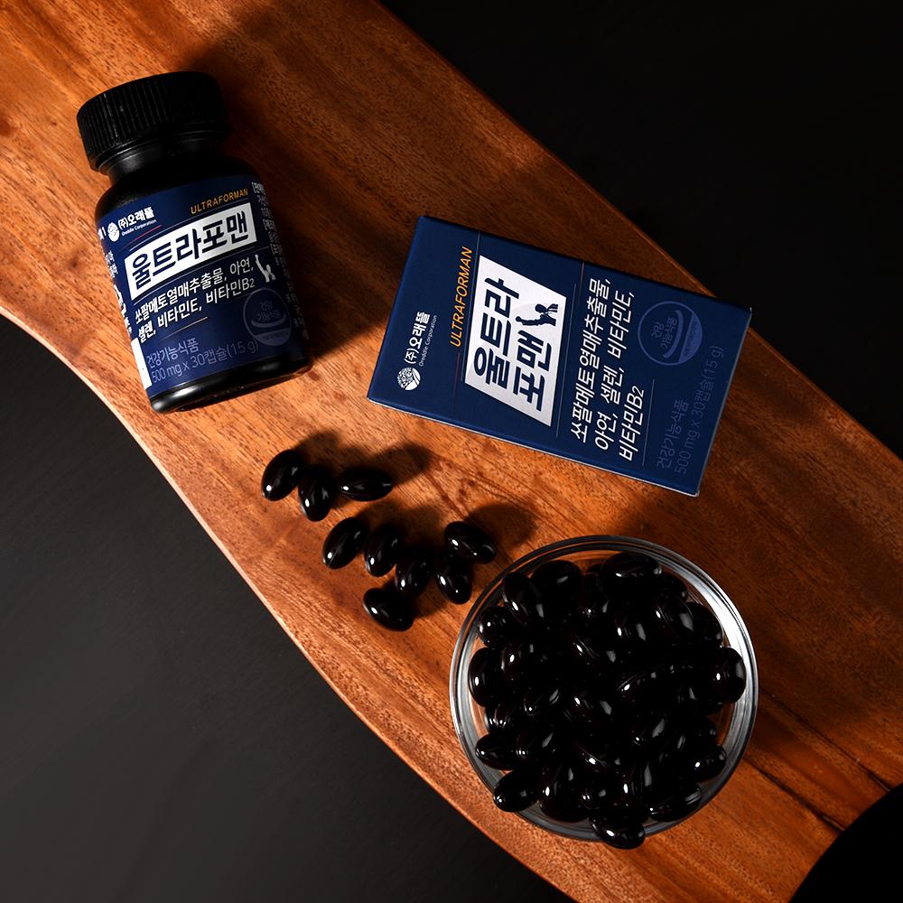[남성건강기능식품] 울트라포맨 쏘팔메토 500mg x 30캡슐 / 1개월분