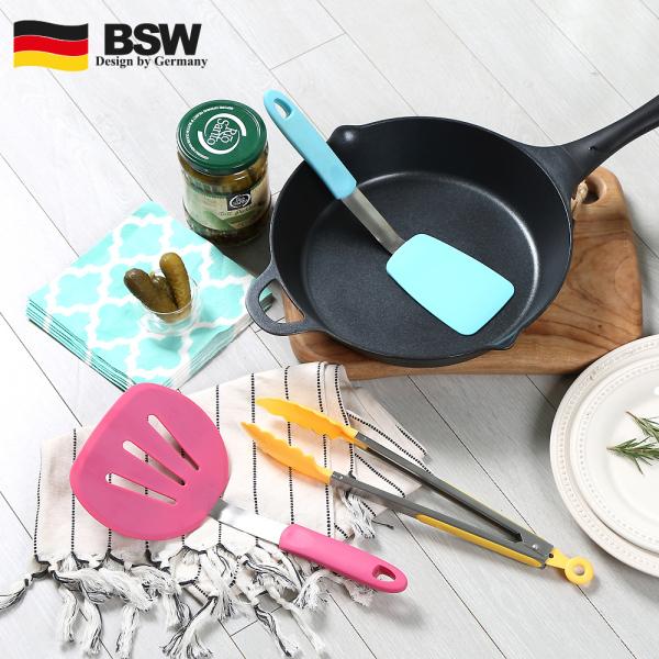 BSW 고급주방용 실리콘 파스텔 3종 키친툴