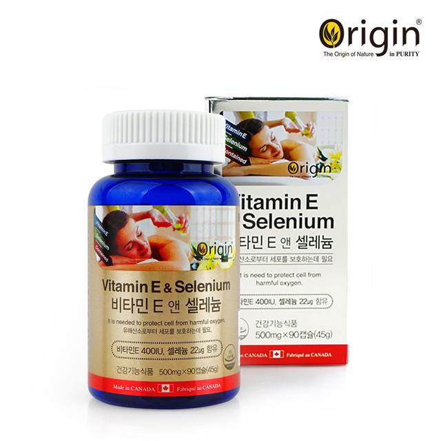 오리진 비타민E 앤 셀레늄 400IU / 500mg x 90캡슐(3개월분)
