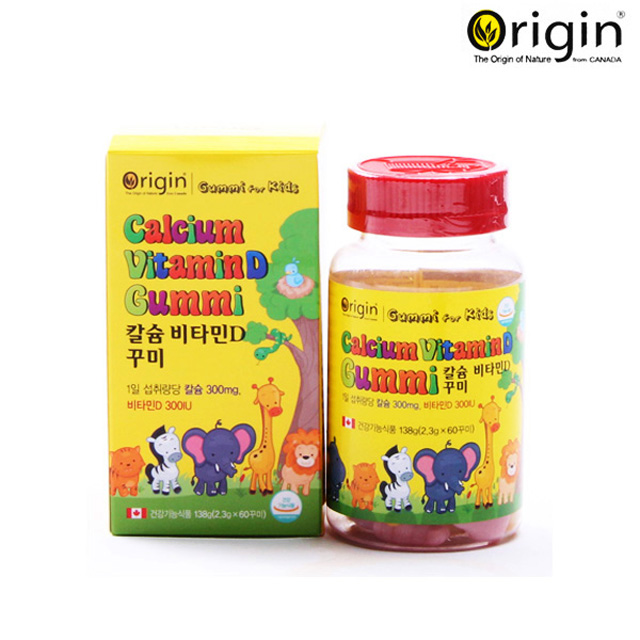 오리진 칼슘 비타민D 꾸미 / 2.3g x 60꾸미(2개월분) / 어린이