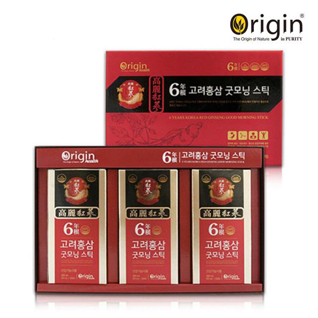 오리진 6년근 고려홍삼 굿모닝스틱 10ml x 60포 + 쇼핑백