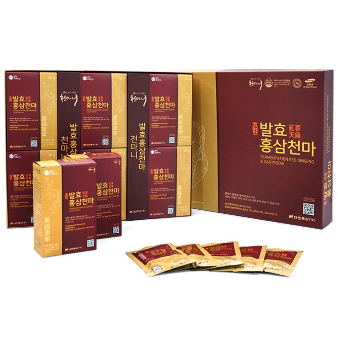 천마니 발효홍삼천마 80ml x 30포 + 쇼핑백