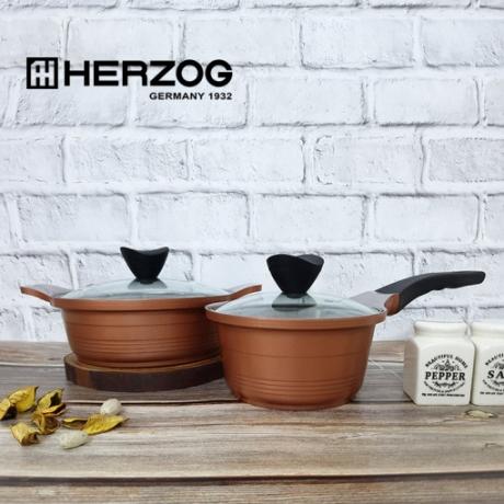 독일 헤르조그(HERZOG) 로제 세라믹냄비 2종세트